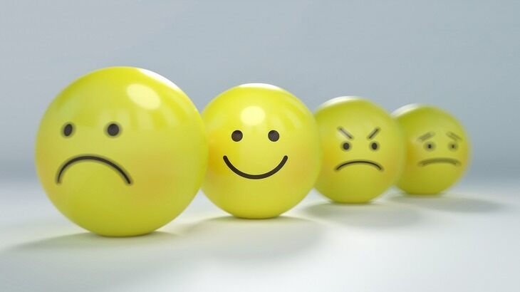 Photo of billiard balls with smiley